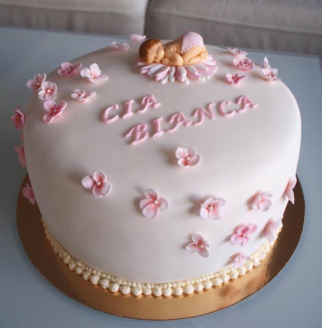 Nimiäisjuhlan kakku pienelle tytölle <3