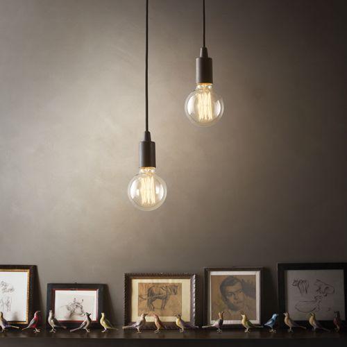 Suspension douille en métal Edison - Noir : Decoclico