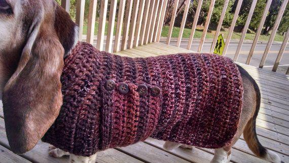 Crochet Pattern Basset Hound Sweater By Olivepearlcrochet