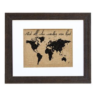 Bring a whimsical touch to your powder room or entryway with this charming framed print, showcasing inspirational typography and a globe motif.