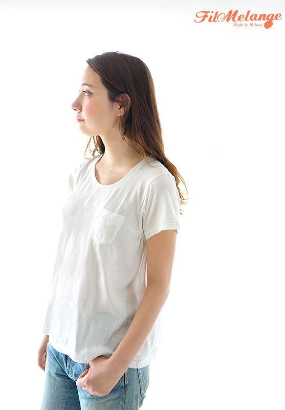 【楽天市場】FilMelange フィルメランジェ ANNIE Newlinda アニー 無地 ポケット付き 半袖 クルーネック Tシャツ【2016春夏】[10P27May16]:Crouka(クローカ)