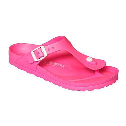 Birkenstock Women's Gizeh EVA Sandals (38 M EU, Neon Pink) #Clogs, #Cute_Shoes, #Mules, #Shoes, #Women'S_Shoes