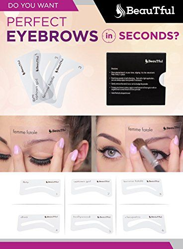 1000+ ideas about Eyebrow Stencil on Pinterest : Eyebrows, Brow Stencils and Brows