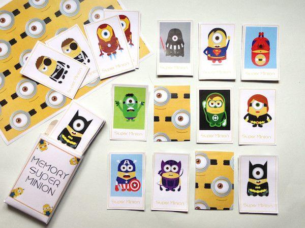 4 juegos de memoria gratis ¡para imprimir! 4 juegos de memoria gratis, para imprimir. Descarga gratis estos juegos de memoria de los Minions, transportes, dinosaurios y Super Mario.