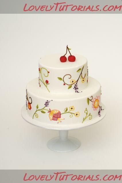 Best cake brush embroidery images on pinterest