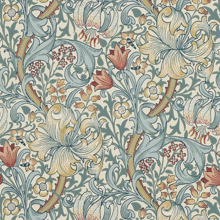 The Original Morris & Co - Arts and crafts, fabrics and wallpaper designs by William Morris & Company | Products | British/UK Fabrics and Wallpapers | Golden Lily (DM6P210401) | Archive Wallpapers