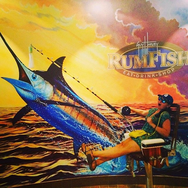 She got a bite! @Poca Hontas at Guy Harvey RumFish Grill on St. Pete Beach, FL