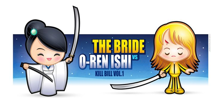 https://flic.kr/p/988AQ6   Kawaii Kill Bill   The Bride vs. O-Ren Ishi  This was my contribution to Planet Pulp's January theme - Vs.  Check out the other great artists here - www.planet-pulp.com/
