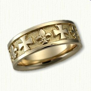17 Best Images About Custom Religious Wedding Bands On Pinterest Maltese Cr