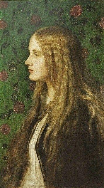 George Frederic Watts (English Pre-Raphaelite Symbolist artist) Edith Villiers (1841-1936)