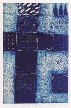HAYASHI Takahiko 2002: White Texture, Indigo Blue, Colors Blues, Space, Takahiko Hayashi