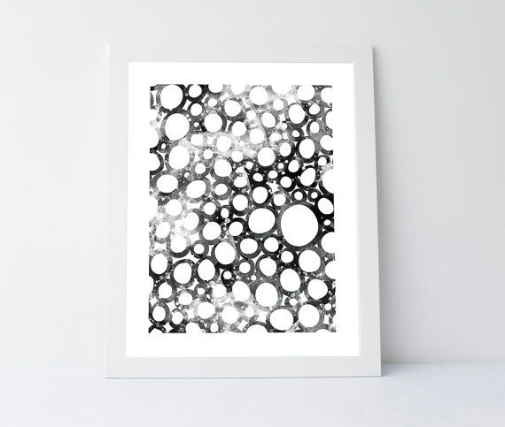 Circles wall art downloadable art abstract by PrintableGiftIdeas