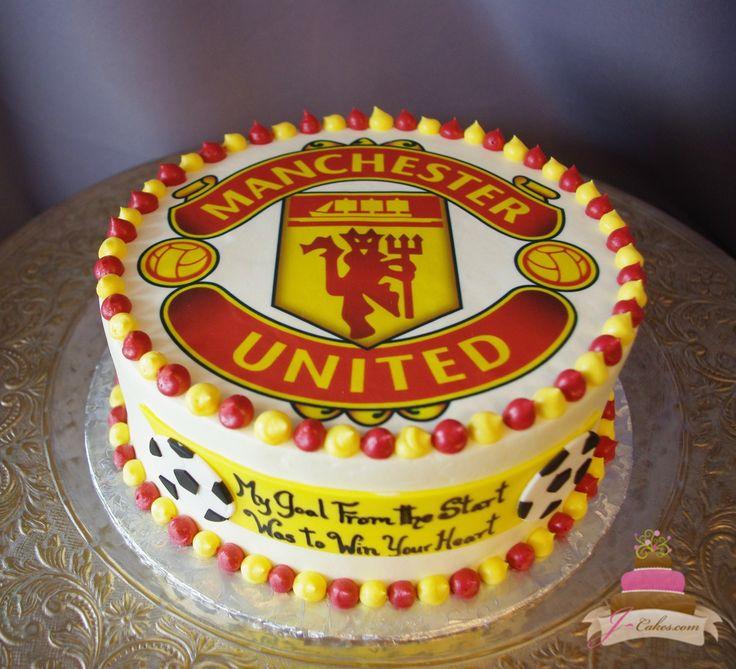(726) Manchester United Soccer Groom's Cake