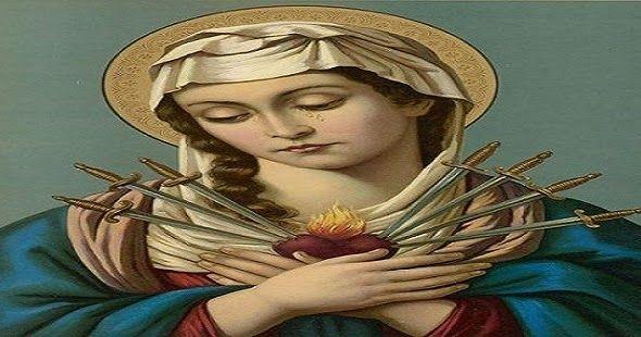 A Coroa Das Sete Dores De Nossa Senhora Com Imagens Virgem Maria