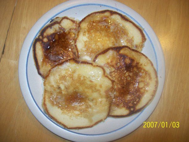 This is from Alton Brown. The BEST pancake recipe Ive used and it is a regular favorite. *****NOTE**** There are actually TWO recipes here. One for a batch of mix and one to make a batch of pancakes from 2 cups of the pancake mix.