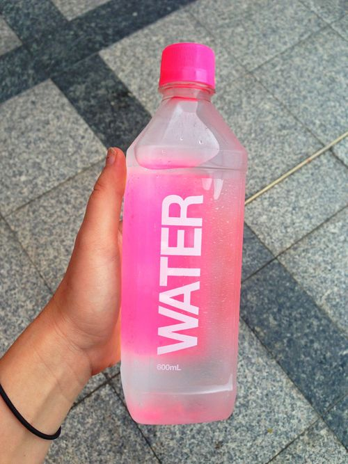 Pink Water Bottle ♡ Via Tumblr Packaging Design