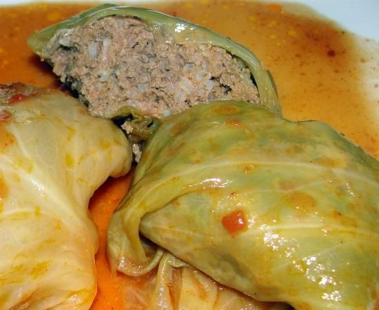 Crock Pot Swedish Cabbage Rolls - made these tonight & the only diff from recipe my mom has always used is a 1/4c milk instead of 1/4c tomato sauce & we always doubled the sauce. Serve w mashed potatoes - So good :)