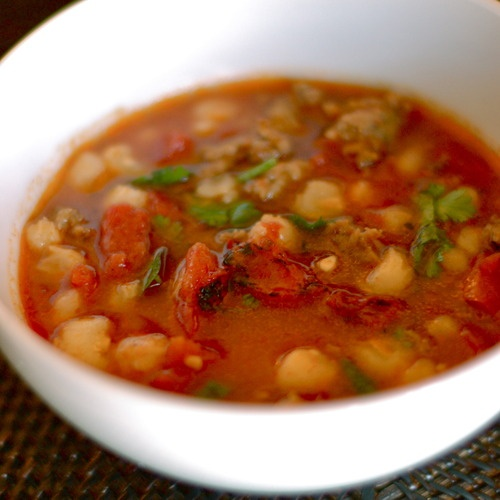Spicy Sausage Posole | Recipe