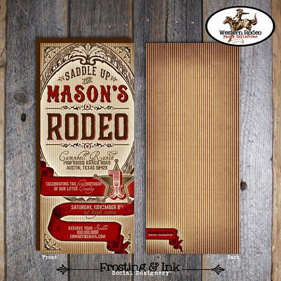17 best ideas about cowboy invitations on pinterest   cowboy party, Party invitations