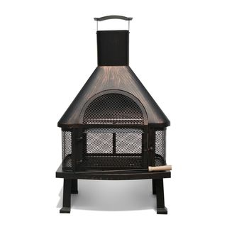 @Overstock.com - Brushed Bronze FP003 Outdoor Fire Pit - Gather the whole gang together for s'mores or curl up with a book next to this bronze outdoor fire pit. This vintage-style fire pit burns either charcoal or wood, and comes with a poker tool to adjust the fire's fuel from a distance.  http://www.overstock.com/Home-Garden/Brushed-Bronze-FP003-Outdoor-Fire-Pit/7554962/product.html?CID=214117 $148.49