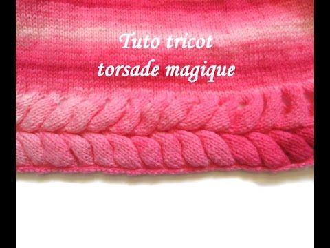tuto tricot torsade magique