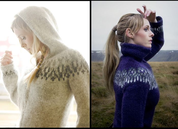 Icelandic wool and custom-knit sweaters