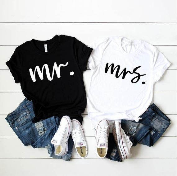 9e1f7e9b6dd6 Mr. and Mrs. Shirt, Couple T-Shirt, Husband and Wife Shirt, Cute Couple T- shirt, Fiance Shirt, Honey