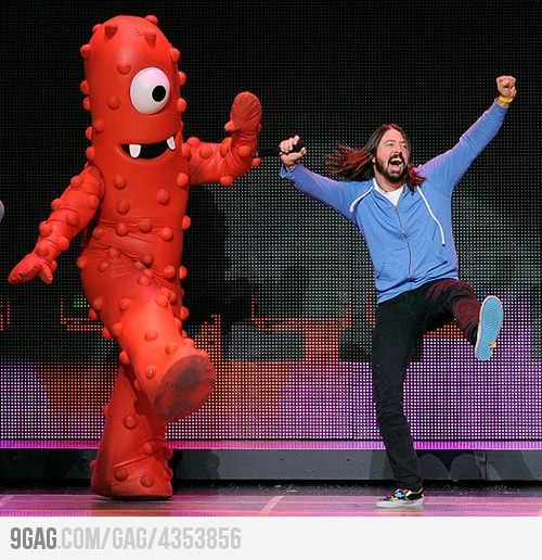 Dave Grohl is never not having fun