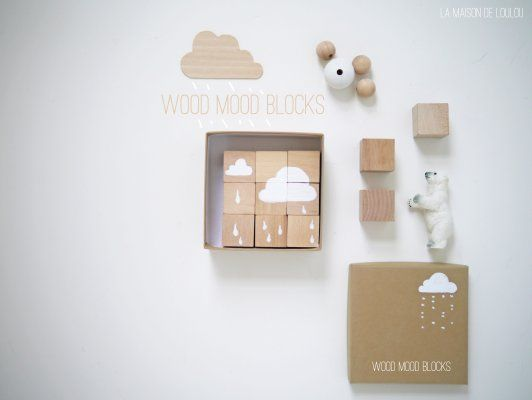 wood mood block by La maison de Loulou