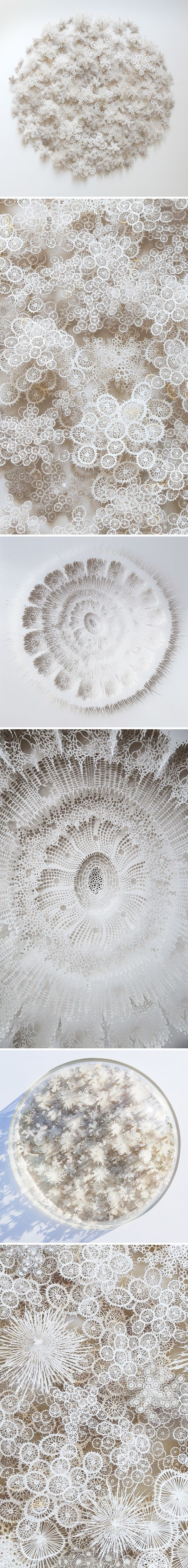 Incredible organic paper cuttings by Rogan Brown…