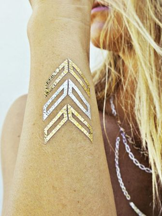 The Next Big Tattoo Trend Is Here — & It's Shiny #Refinery29 #flashtattoos