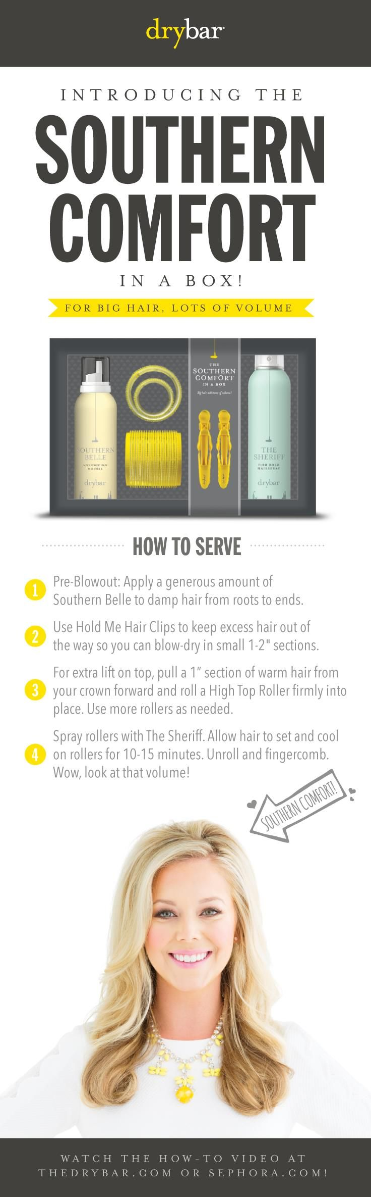 Get to Know: The Southern Comfort In A Box #Drybar #hair #blowouts