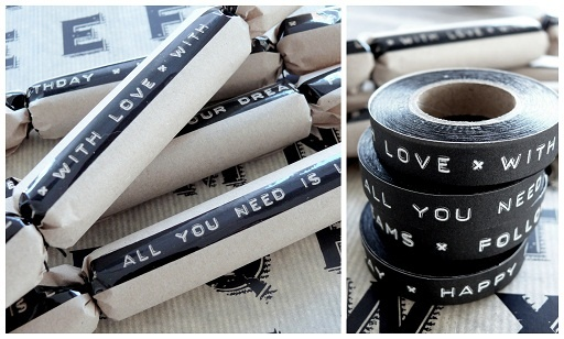 Wrapping with Tape Text ♥