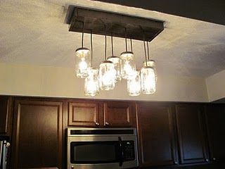 lauren from the mcbride house has an awesome diy project to show off her diy pb inspired mason jar chandelier is gorgeous source pottery barn the pottery austin mason jar pendant lamp diy