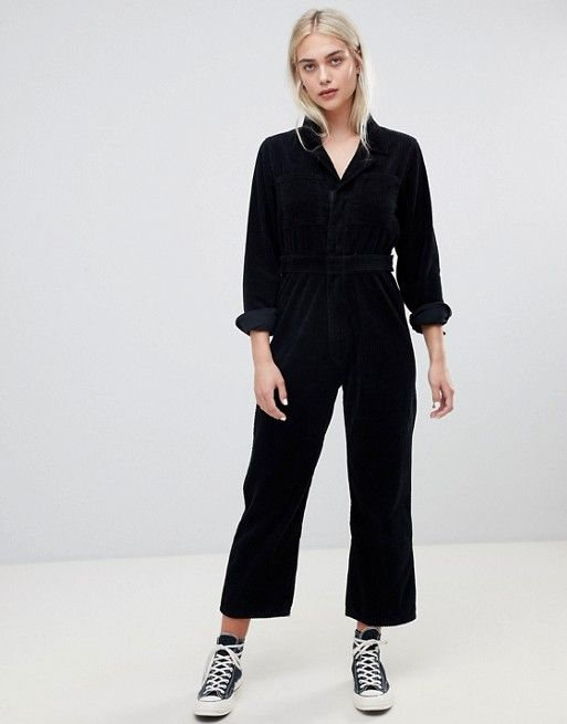 Design Cord Utility Boilersuit In Black In 2018 Clothes 2018