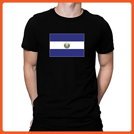Teeburon El Salvador Flag T-Shirt - Cities countries flags shirts (*Partner-Link)