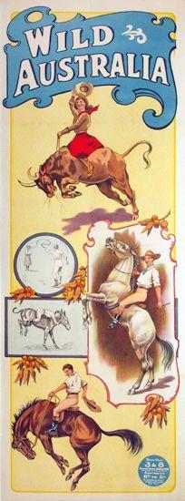 """Wild Australia"" (c. 1910-1920s) travel poster via Josef Lebovic Gallery."