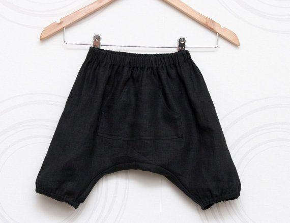 Boys wedding wear linen harem shorts in black or white by ZanziBach, €20.00