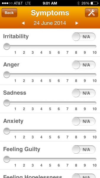 """""""The Optimism App was developed to help patients with mood disorders, such as Bipolar disorder, track their daily mood."""""""