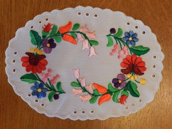 Kalocsa embroidery doily, Decor accessories