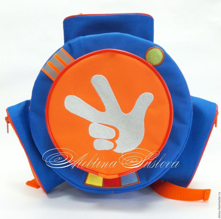 """Купить Рюкзак-помогатор """"Фиксики"""" васильковый, оранжевый - комбинированный, помогатор, фиксики, васильковый, рюкзак, подарок"""