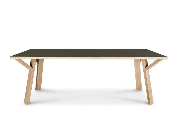 Twiglegs CC rechthoekige tafel - vulkaanzwart - (Oeps! korting) - Arp,