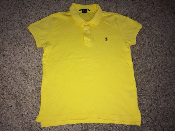 Sale Vintage Polo by Ralph Lauren tops womens yellow by casualisme