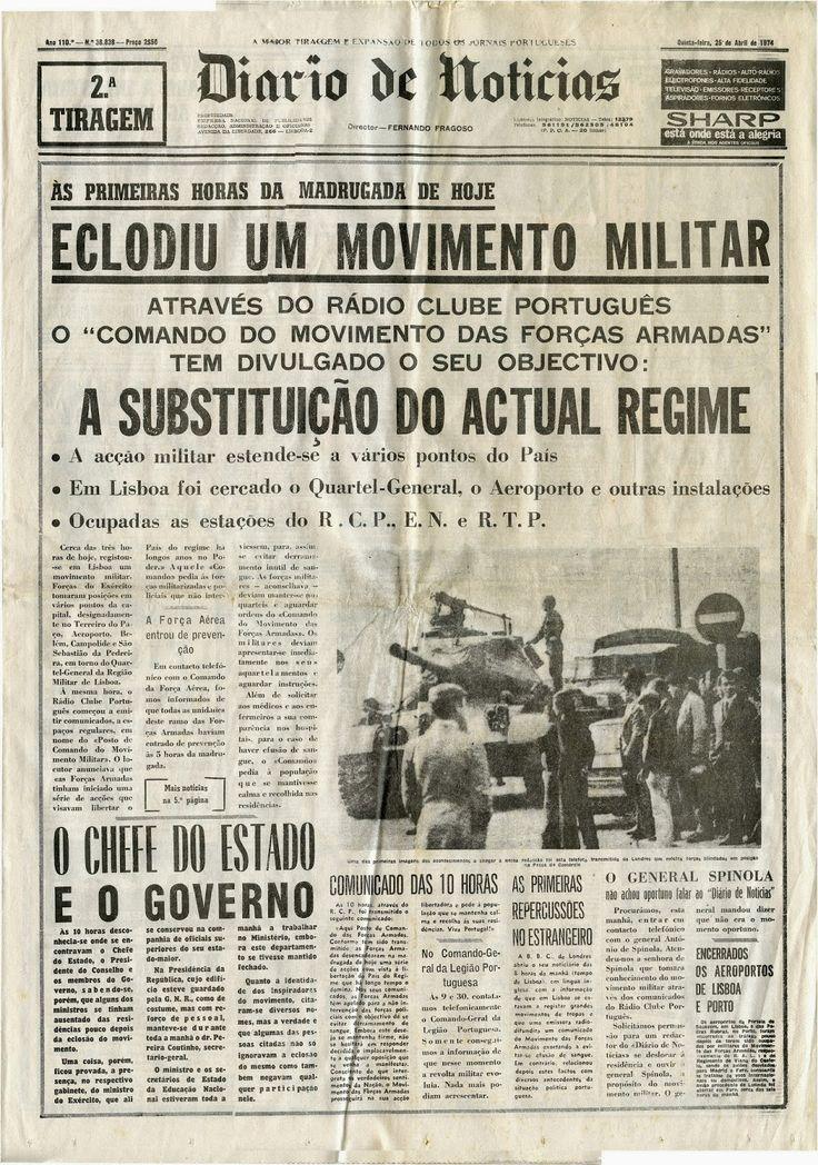 noticias de jornais Portugal - 1974