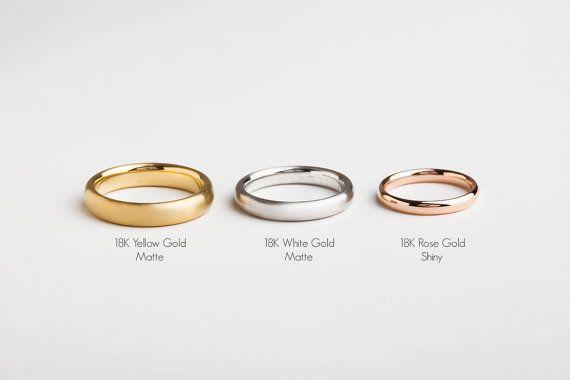 Wide Rose Gold Ring 14k 18k Rose Gold Wedding Band Men Wedding Ring Men Simple Wedding Ring Comfor Minimal Wedding Rings Gold Wedding Band Rings For Men