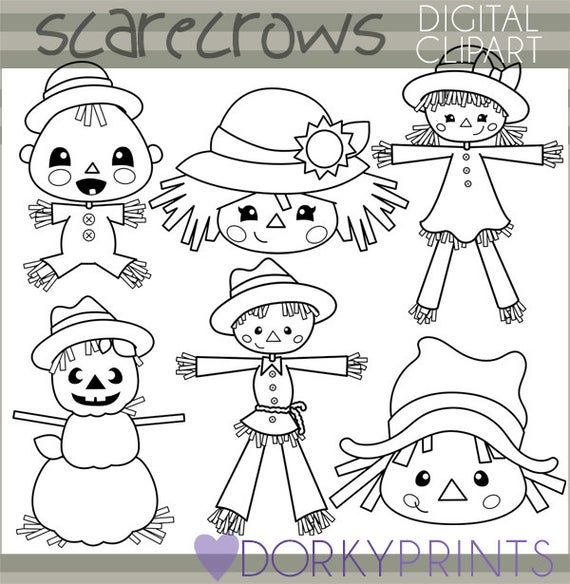 Scarecrow Clipart Personal And Limited Commercial Use Scare Etsy In 2021 Clip Art Freebies Digital Clip Art Clip Art