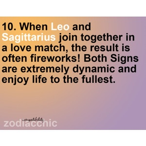leo dating sagittarius An ideal date for them is one where they can be in the  11 things you need to know before you date a sagittarius is cataloged in astrology, dating, love & sex .