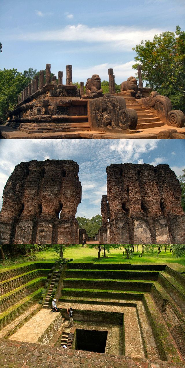 Ancient royal city of Polonnaruwa, Sri Lanka. Gardens, parks, palaces and temples. Astrogeographic position: in the highly attractive royal fire sign Leo the sign of kings and a main indicator for aristocratic capitals with the highly defensive water sign Scorpio one of the main indicators for fortresses. Valid for field level 2 which describes how the town is embedded in the country.