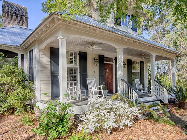 Superior 253 Best White House, Silver Metal Roof, Black Shutters Images On Pinterest  | Black Shutters, Metal Roof And White Houses