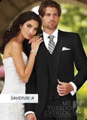 Asheville Tuxedo by Mitchell's - 'Celebration' - Black - David Tutera Men's Collection - Slim Fit
